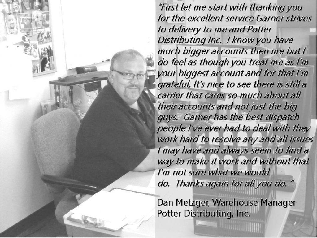 Potter testimonials